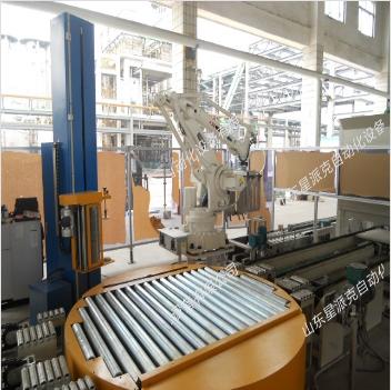 化工桶机器人缠绕流水线